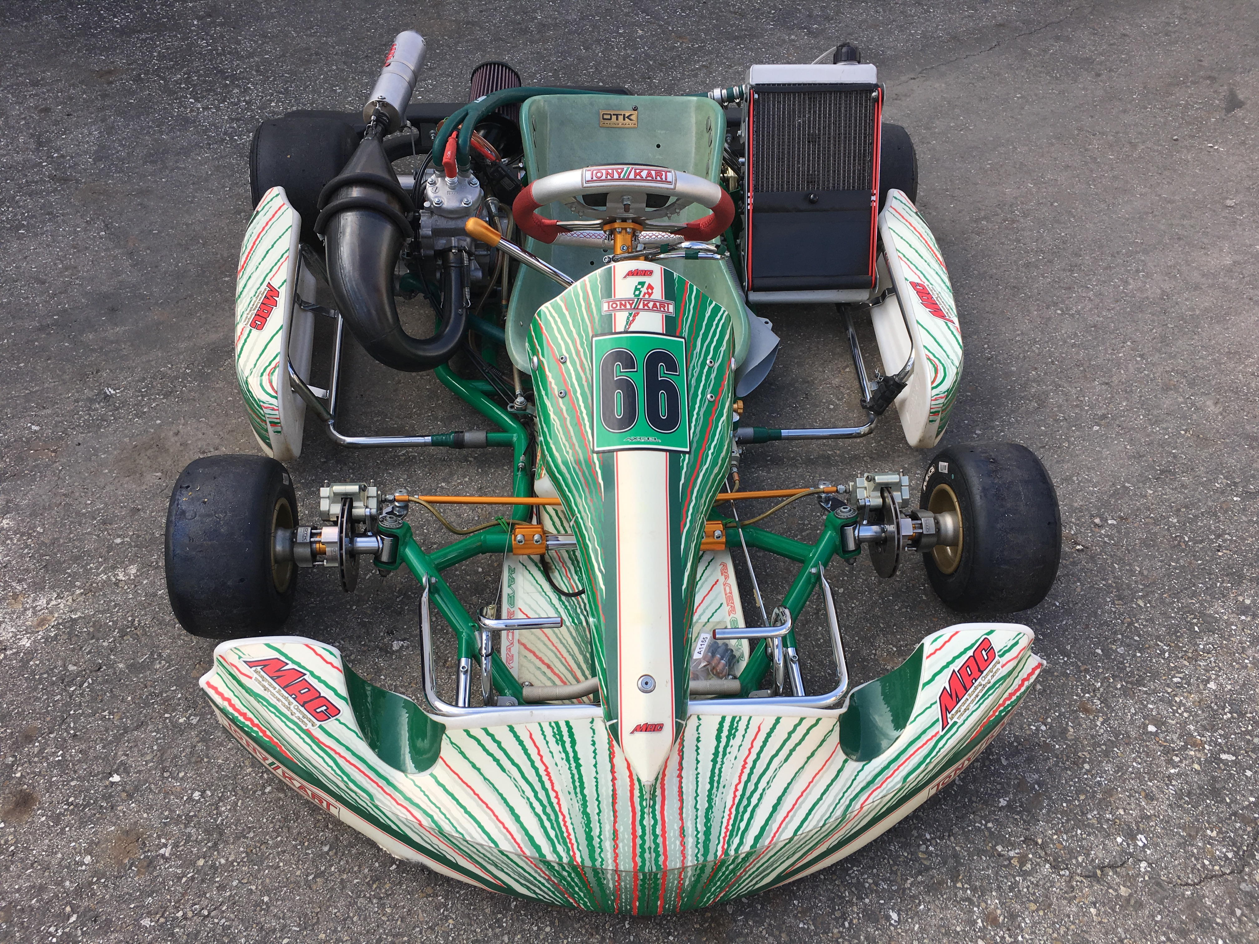 TONY KART 2012 w/ COMPLETE MRC CR125 ENGINE PACKAGE & EXTRA'S